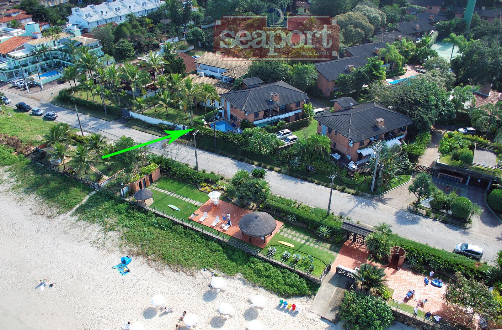 Vista aérea da posição da casa